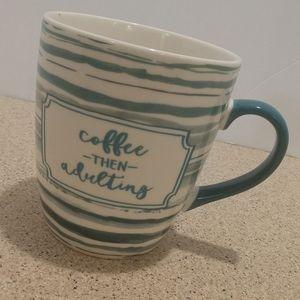"Super Size Mug "" Coffee then Adulting"" 24 oz"